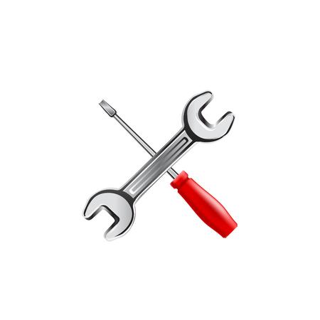 work tool: Work tool icon. Vector illustration on white background Illustration