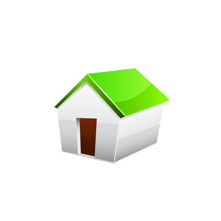 installer: House Icon. Vector illustration on white background.
