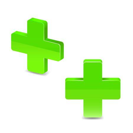 green cross: Green cross. Vector illustration on white background
