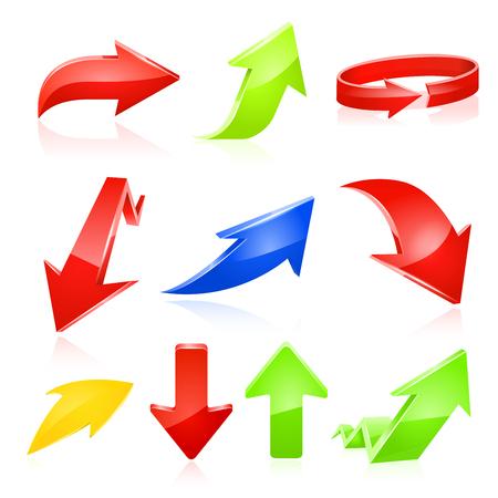 upward movements: arrow icon set. illustration on white background. Illustration
