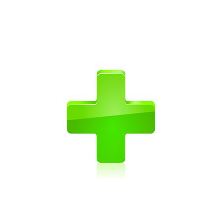 green cross: Green cross. illustration on white background