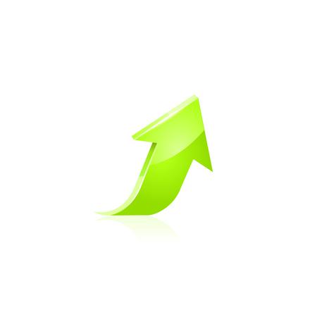 green arrow: Green arrow Illustration