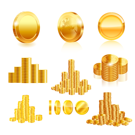 gold coin: Gold coin set