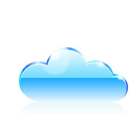 Cloud icon. illustration on white background. Illustration