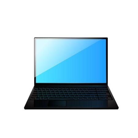 palmtop: Icon of the laptop. Illustration