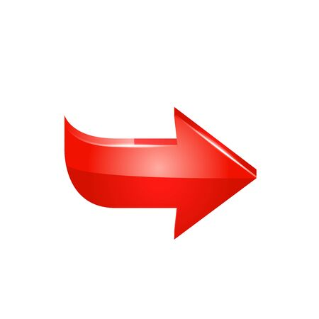 Red arrow  illustration on white background