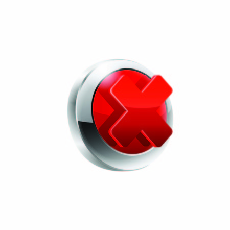 disagree: Rejected vector button vector illustrastion on white.