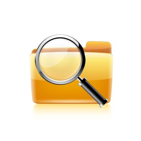 Zoek pictogram. Vector Stock Illustratie