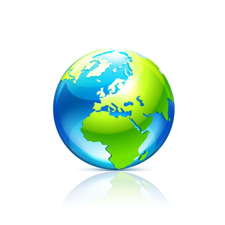 Globe. Vector Illustration