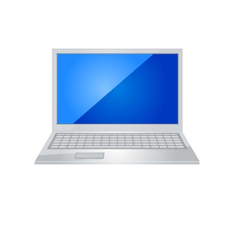 laptop icon vector. Stock Illustratie
