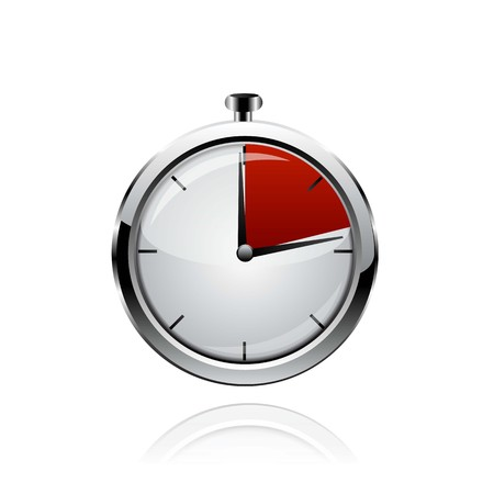 Red clock Vector.