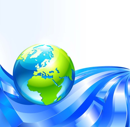 globe with abstract background. vector Ilustração