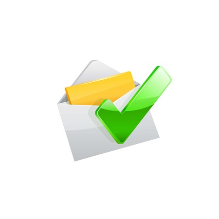 E-mail icon. Vector illustration on white background.