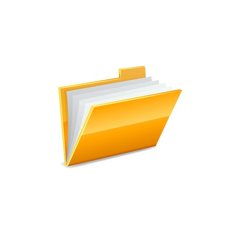 vector yellow folder icon