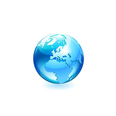 globe vector icon Ilustração