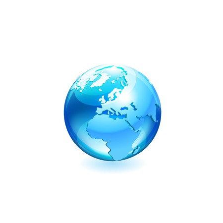 globe vector icon Stock Illustratie
