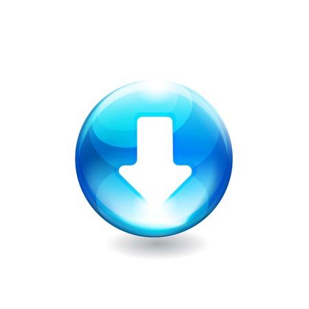 Button arrow. Vector Ilustração