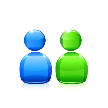 chat vector icon on white background green and blue eps. Stock Illustratie