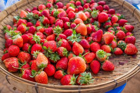 threshing: Strawberry in threshing.