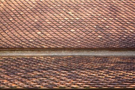 contiguous: Tiles on the roof of the adjacent area.