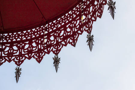 hung: Tiered umbrella in the countries of Thailand and the sky.