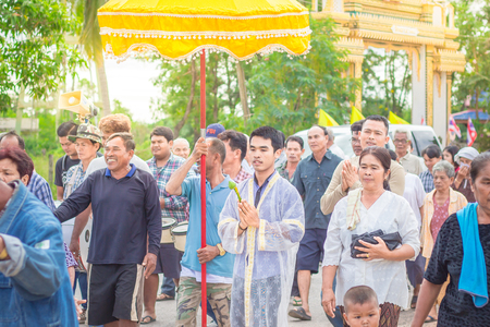 ordain: Nakhon Ratchasima, THAILAND, Nov 2015 : Thai males are ordained at the age 21 years. To follow the orders of Buddhism from the ancient times.