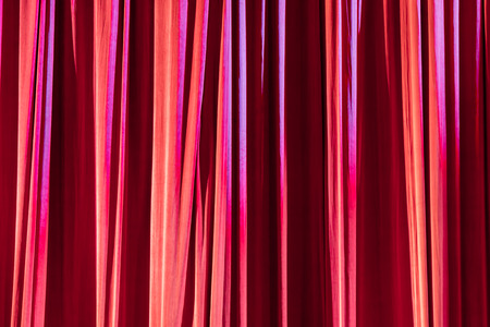 Texture background red curtain and shadow of light. Stock Photo