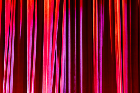 comedy: Texture background red curtain and shadow of light. Stock Photo