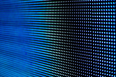 led display: Background blue screen technology LED modern and beautiful.