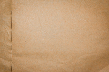 Texture of the paper envelope of old brown wrinkled.