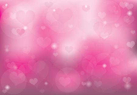 バレンタインの日ロマンチックな愛の心の背景。