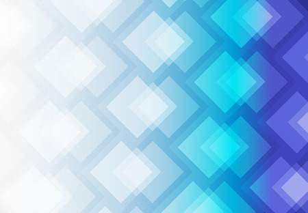 White and blue abstract background vector art of overlap of colorful squares. Illustration