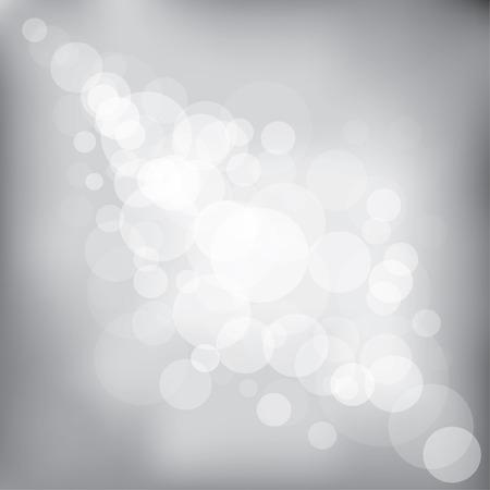 Bokeh abstrait de vecteur de tons noirs et blancs. Banque d'images - 83399871