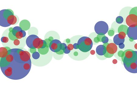 White background business illustration of colorful bubbles and bokeh. Illustration