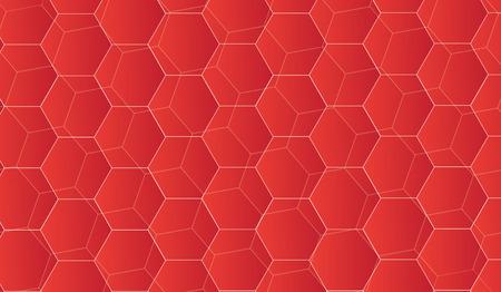 Texture avec un motif se chevauchent dans la technologie rouge. Banque d'images - 83472134