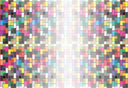 Vecteur de fond abstrait le long des différents carrés colorés qui se chevauchent. Banque d'images - 83431631