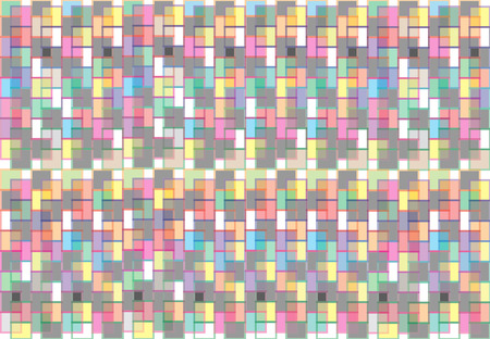 Vecteur de fond abstrait le long des différents carrés colorés qui se chevauchent. Banque d'images - 83480003