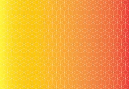Motif fond jaune et orange transparente motif cube technologie qui se chevauchent. Banque d'images - 83431632