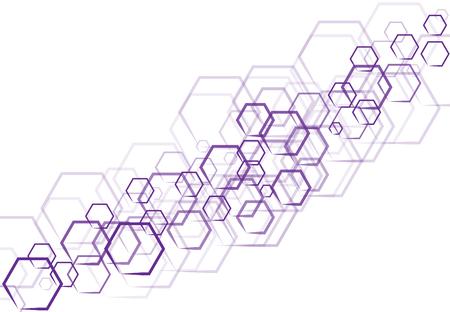 Une technologie hexagonale violet sous forme qui se trouve sur fond blanc Banque d'images - 83431640