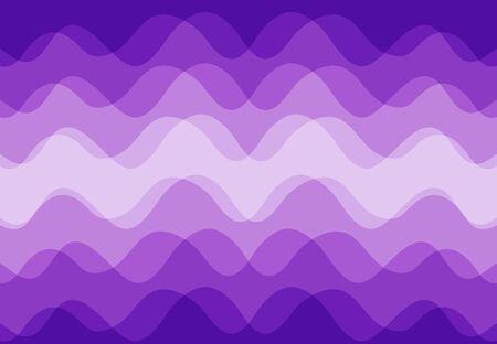 Vecteur de fond abstrait le long de la vague violette qui se chevauchent. Banque d'images - 83431755