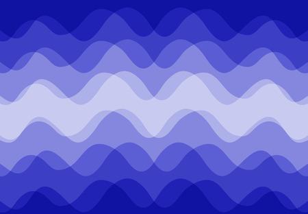 Vecteur de fond abstrait le long de la vague bleue qui se chevauchent. Banque d'images - 83431757