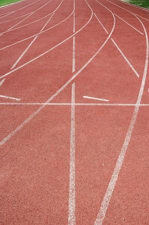 Area football field track.  photo