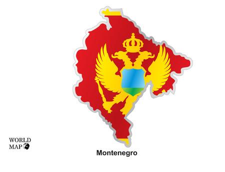 Map montenegro.