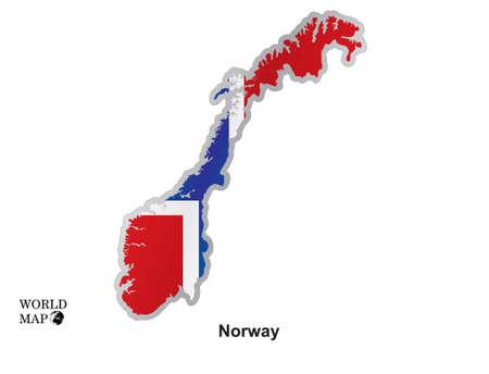 norway: Map Norway.