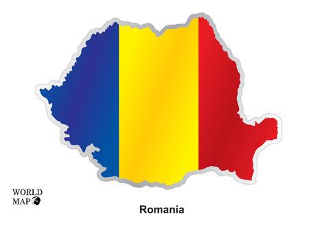 romania: Map Romania. Illustration