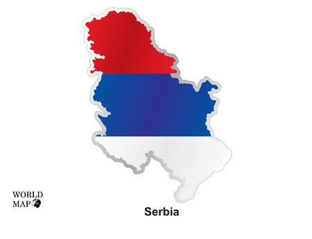 serbia: Map Serbia.