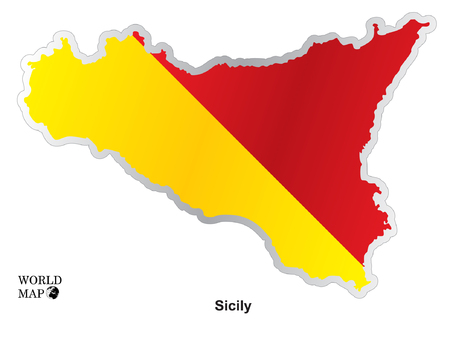 sicily: Map Sicily. Illustration
