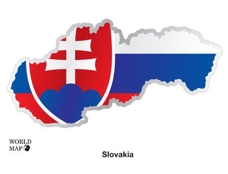 slovakia: Map Slovakia. Illustration