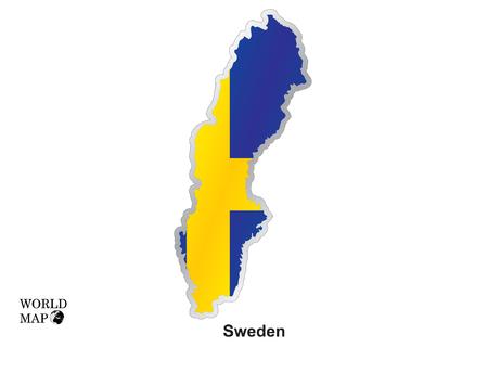 sweden: Map Sweden. Illustration