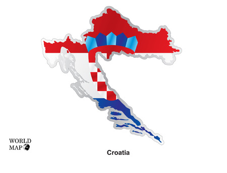 croatia: Map Croatia. Illustration
